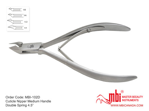 MBI-102D-Cuticle-Nipper-Medium-Handle-Double-Spring-4.5