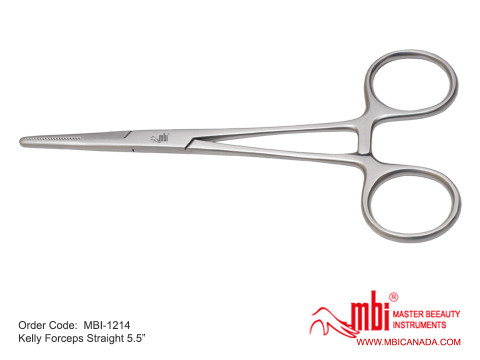 MBI-1214-Kelly-Forceps-Straight-5.5