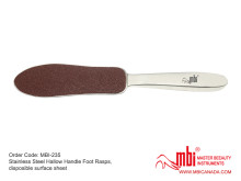 MBI-235B-Stainless-Steel-Hallow-Handle-Foot-Rasps-disposible-surface-sheet