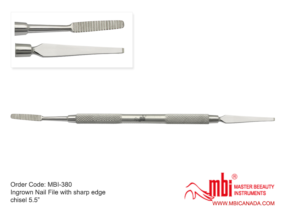 MBI-380 Ingrown Nail File with Sharp Edge Chisel 5.5 Inches | MBI Canada