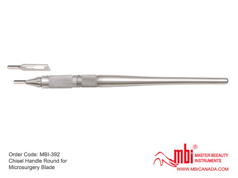 MBI-392-Chisel-Handle-Round-for-Microsurgery-Blade