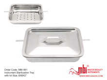 MBI-951-Instrument-Sterilization-Tray-with-lid-Size-8X8X2
