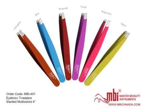 MBI-401 Eyebrow Tweezer Slanted Multicolors 4_ copy